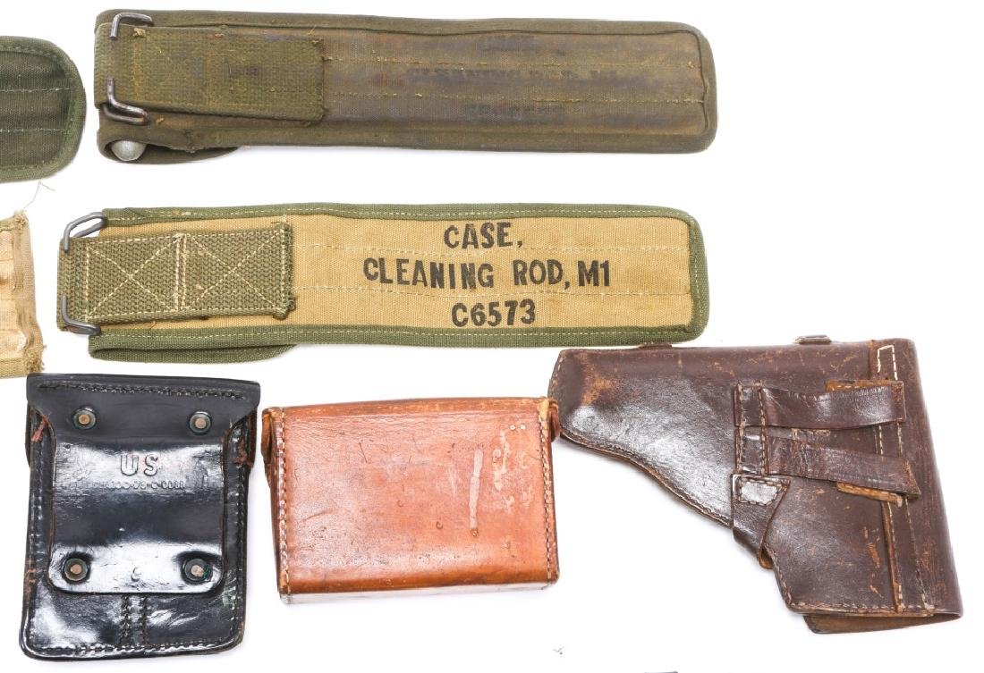 MILITARY HOLSTERS, POUCHES, ROD CLEANERS MIXED LOT - 8