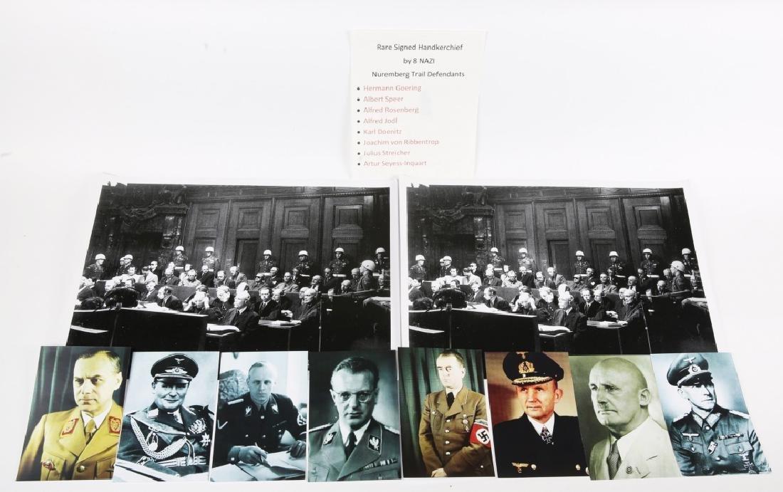 WWII NUREMBERG GERMAN PRISONER SIGNED HANDKERCHIEF - 9