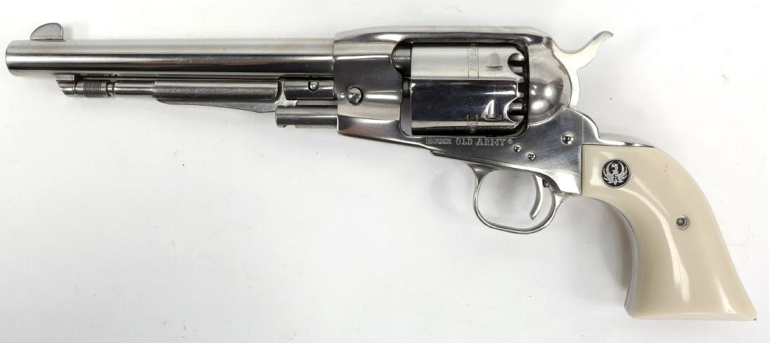 RUGER OLD ARMY .457 CAL PERCUSSION REVOLVER - 3