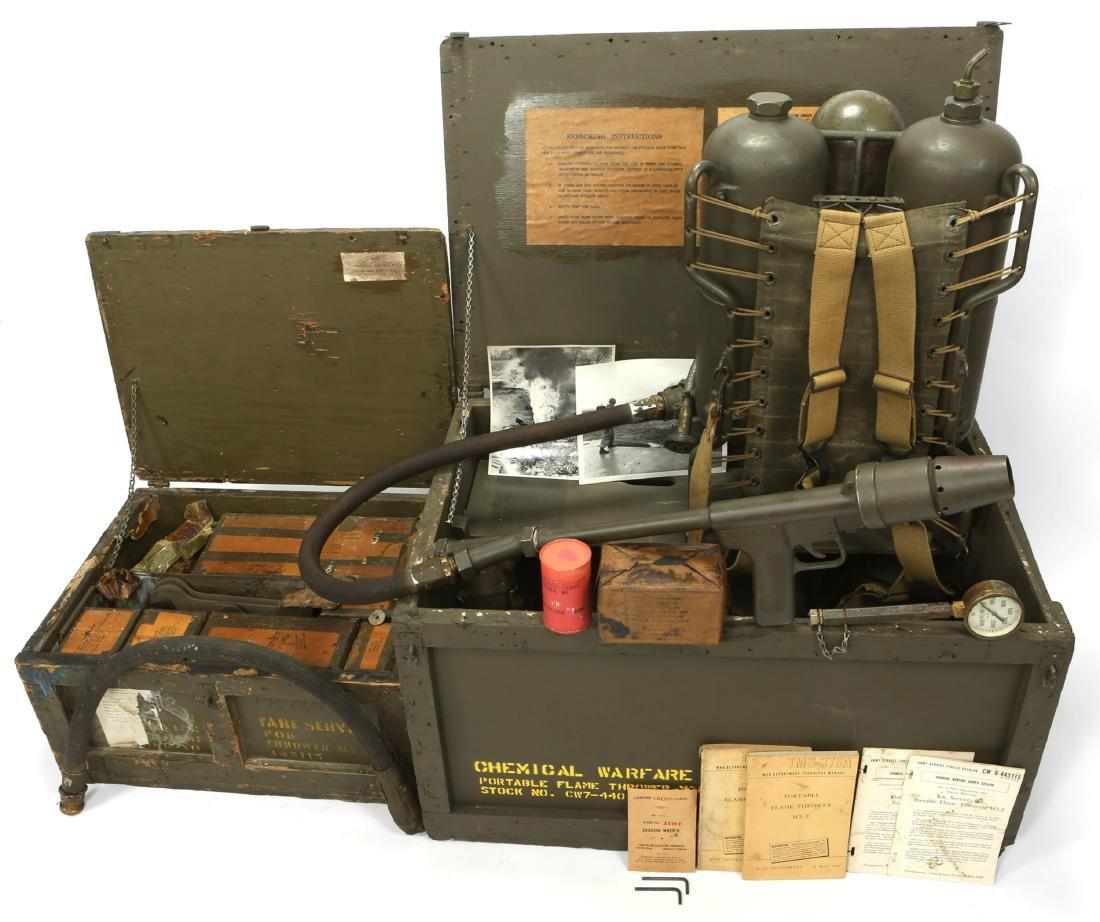 WWII US CHEMICAL WARFARE SERVICE FLAMETHROWER - 2