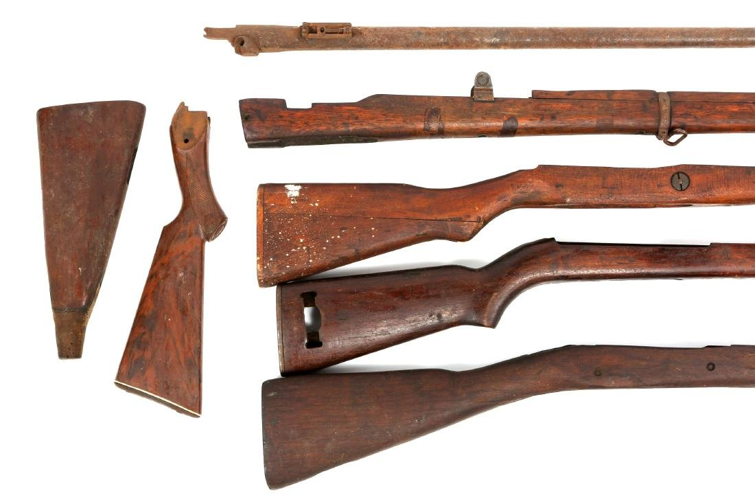 VINTAGE RIFLE STOCK AND BARREL LOT - 2
