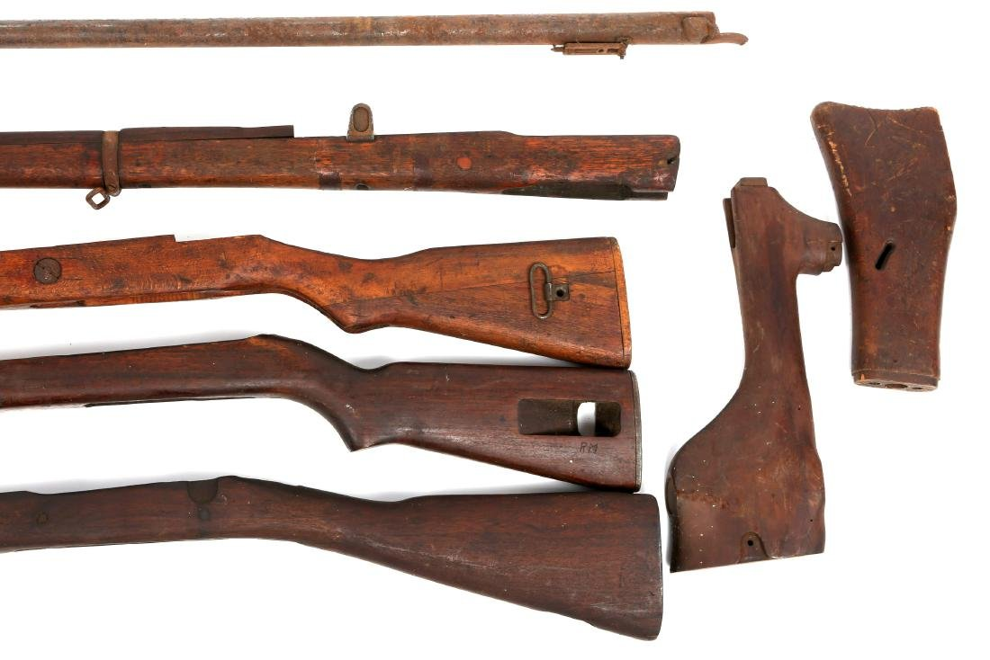 VINTAGE RIFLE STOCK AND BARREL LOT - 6