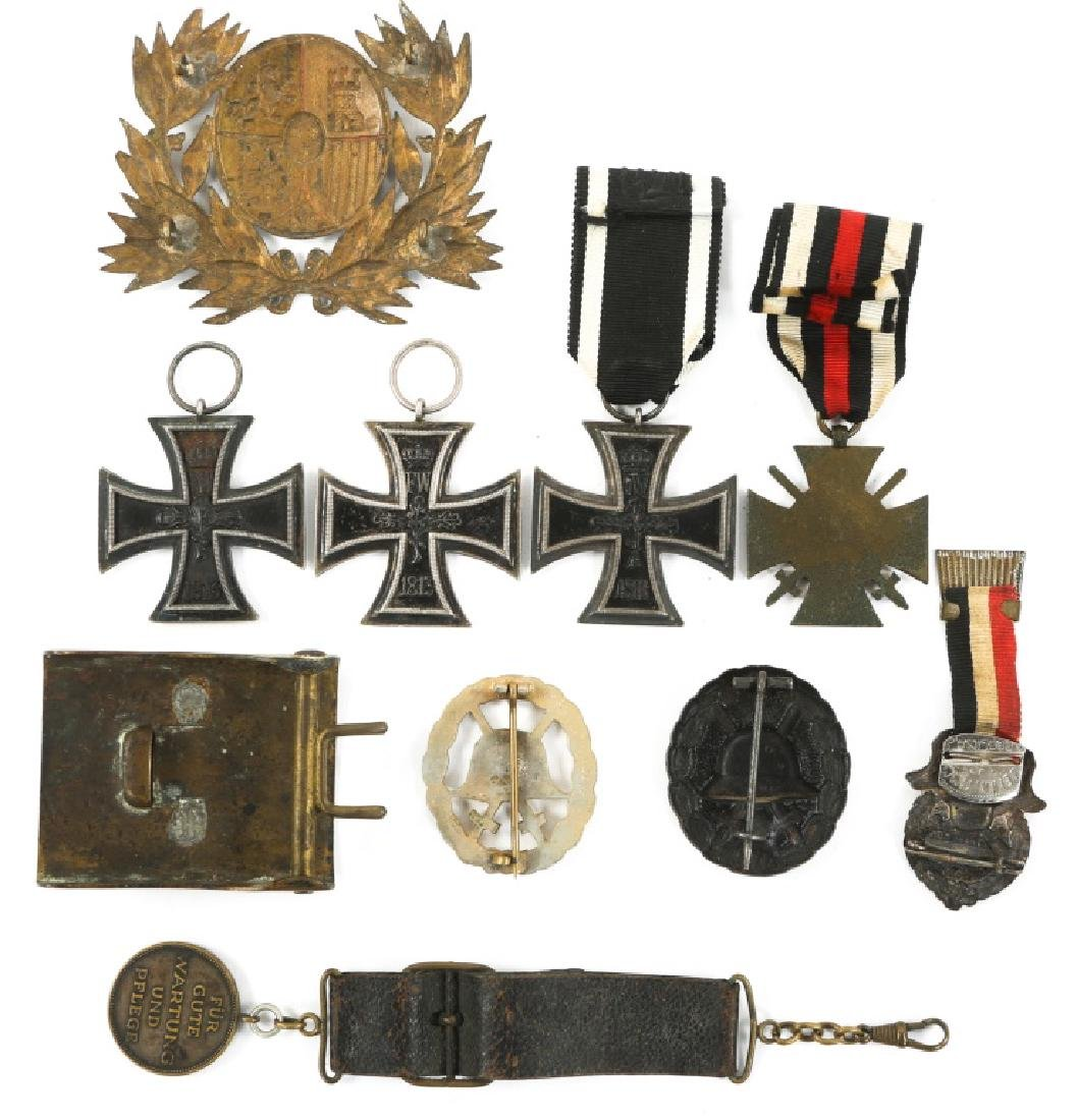 WWI IMPERIAL GERMAN IRON CROSS & BADGE MIXED LOT - 4