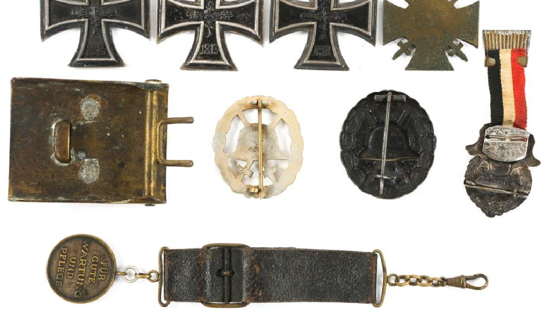 WWI IMPERIAL GERMAN IRON CROSS & BADGE MIXED LOT - 6