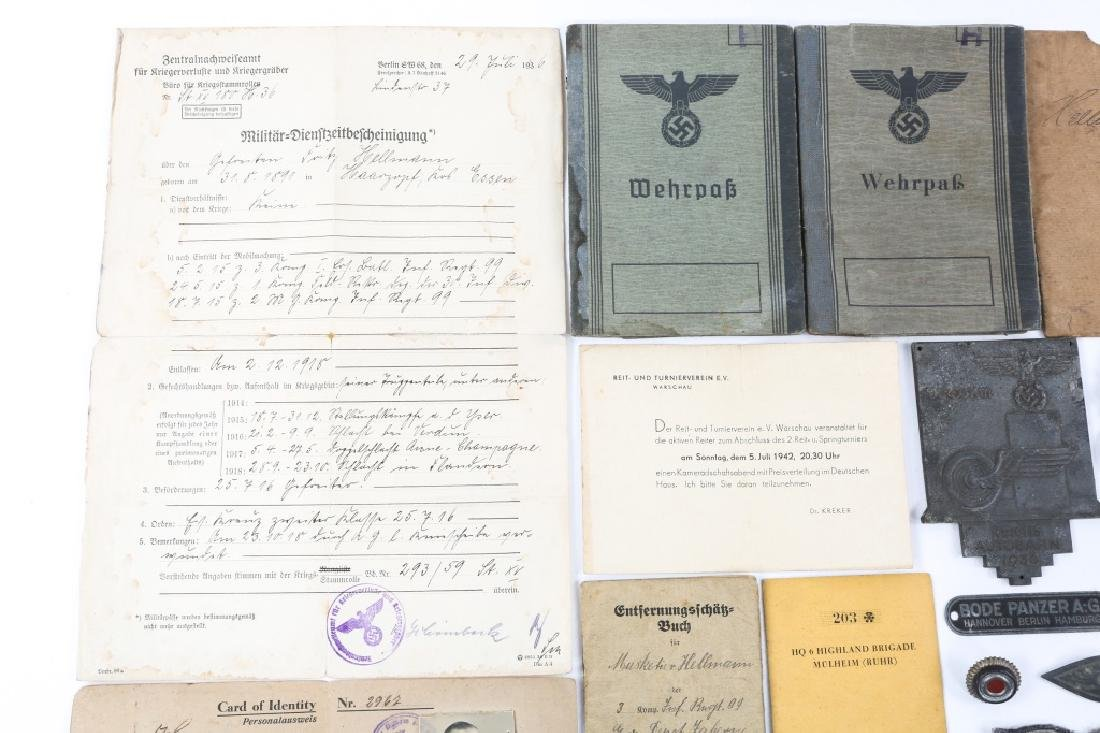 WWII GERMAN BADGE, MEDAL & BELT BUCKLE LOT - 2