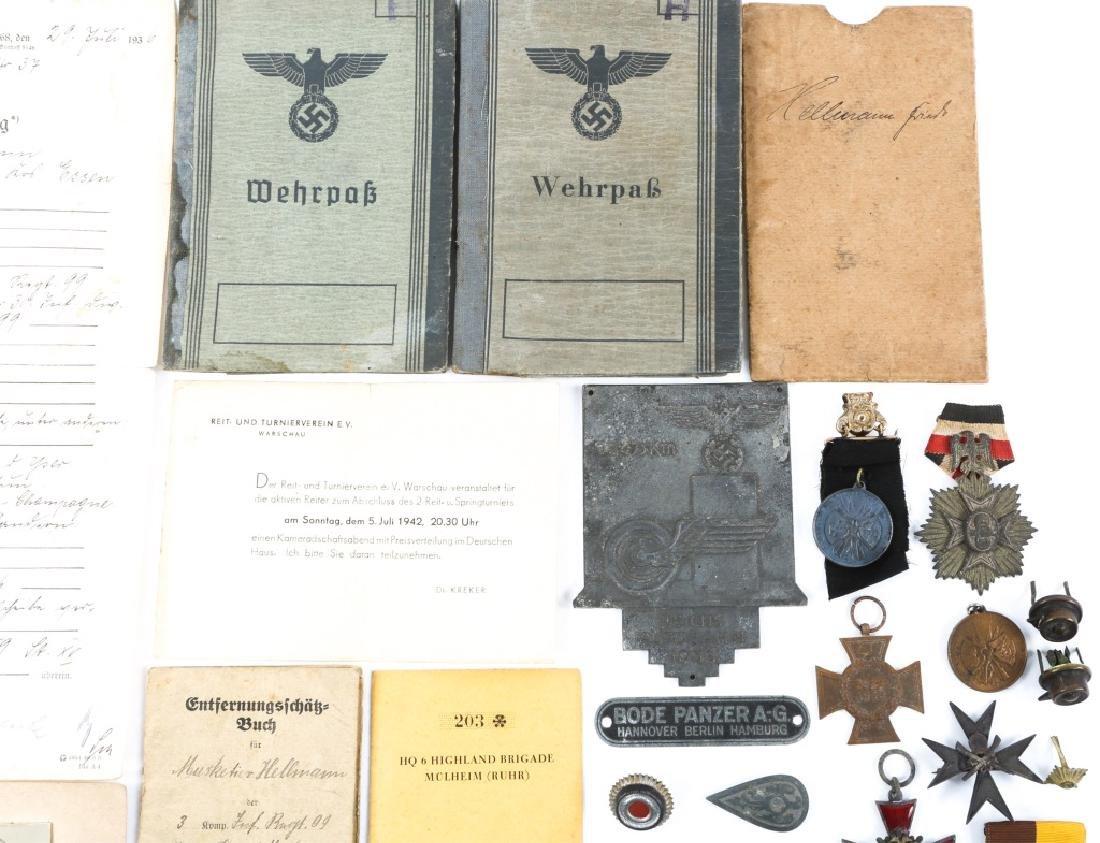 WWII GERMAN BADGE, MEDAL & BELT BUCKLE LOT - 3