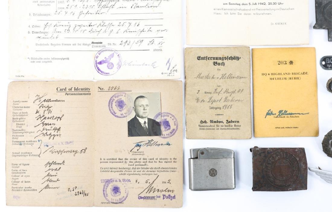 WWII GERMAN BADGE, MEDAL & BELT BUCKLE LOT - 4
