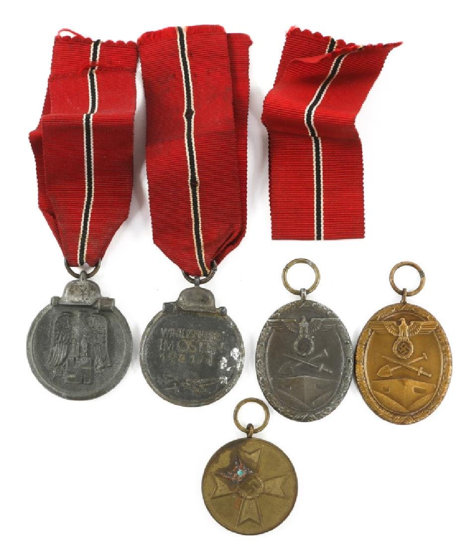 WWII GERMAN MEDAL MIXED LOT OF 5