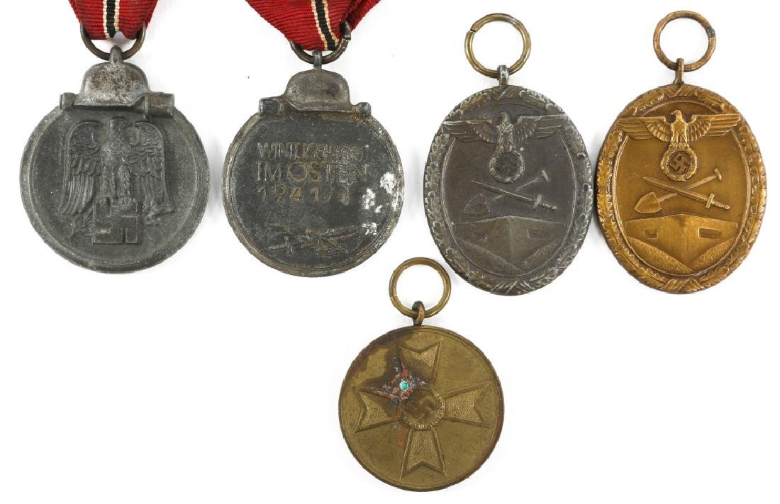 WWII GERMAN MEDAL MIXED LOT OF 5 - 2