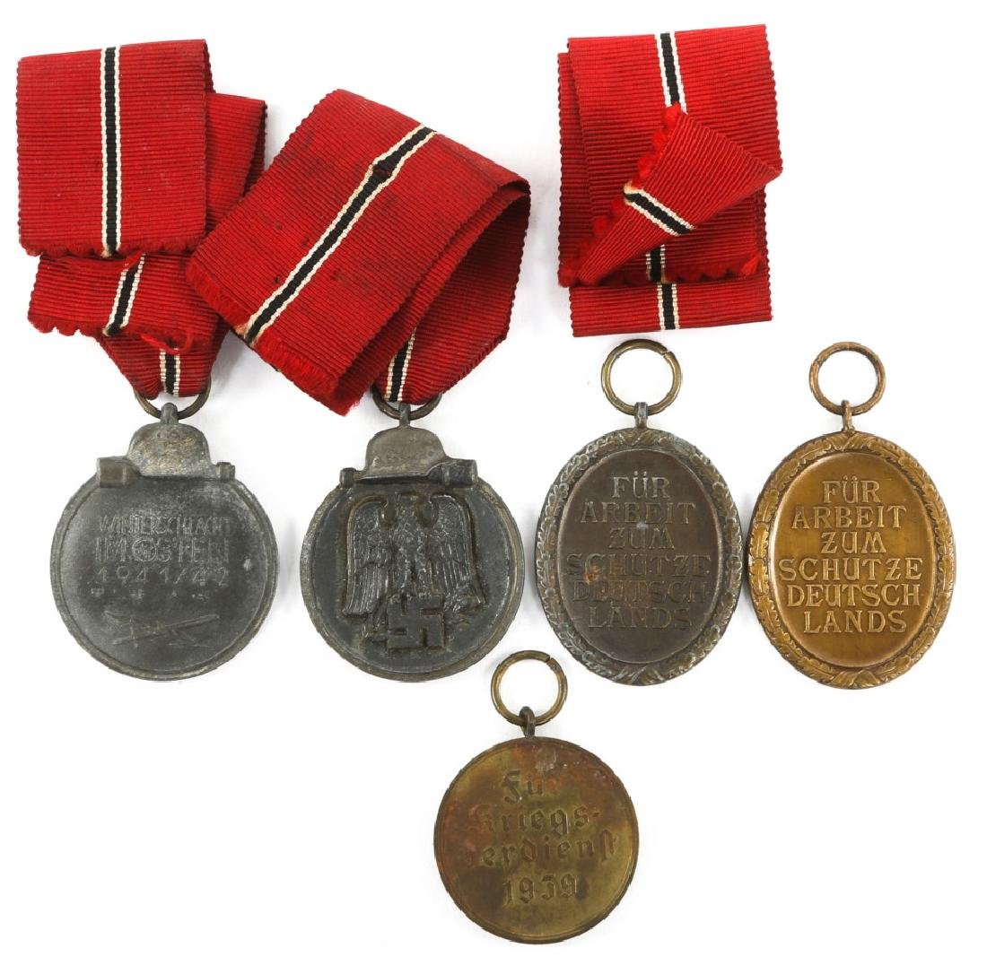 WWII GERMAN MEDAL MIXED LOT OF 5 - 3