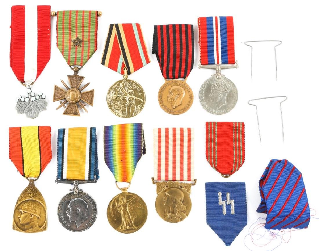 WWII WORLD MEDAL MIXED LOT OF 9