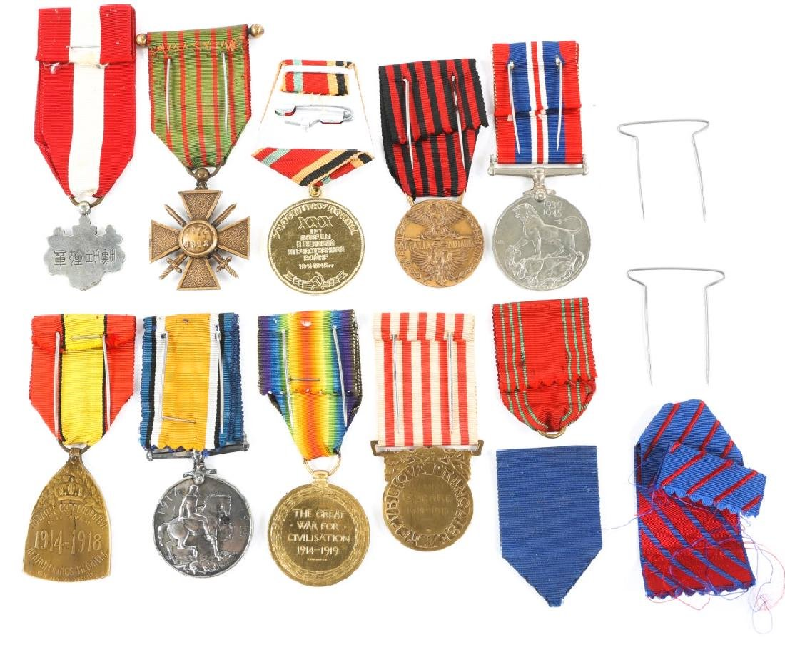 WWII WORLD MEDAL MIXED LOT OF 9 - 4