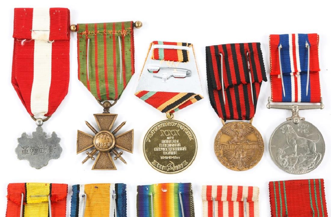 WWII WORLD MEDAL MIXED LOT OF 9 - 5