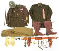 MUSEUM DISPLAY OF GENERAL GEORGE S. PATTON UNIFORM