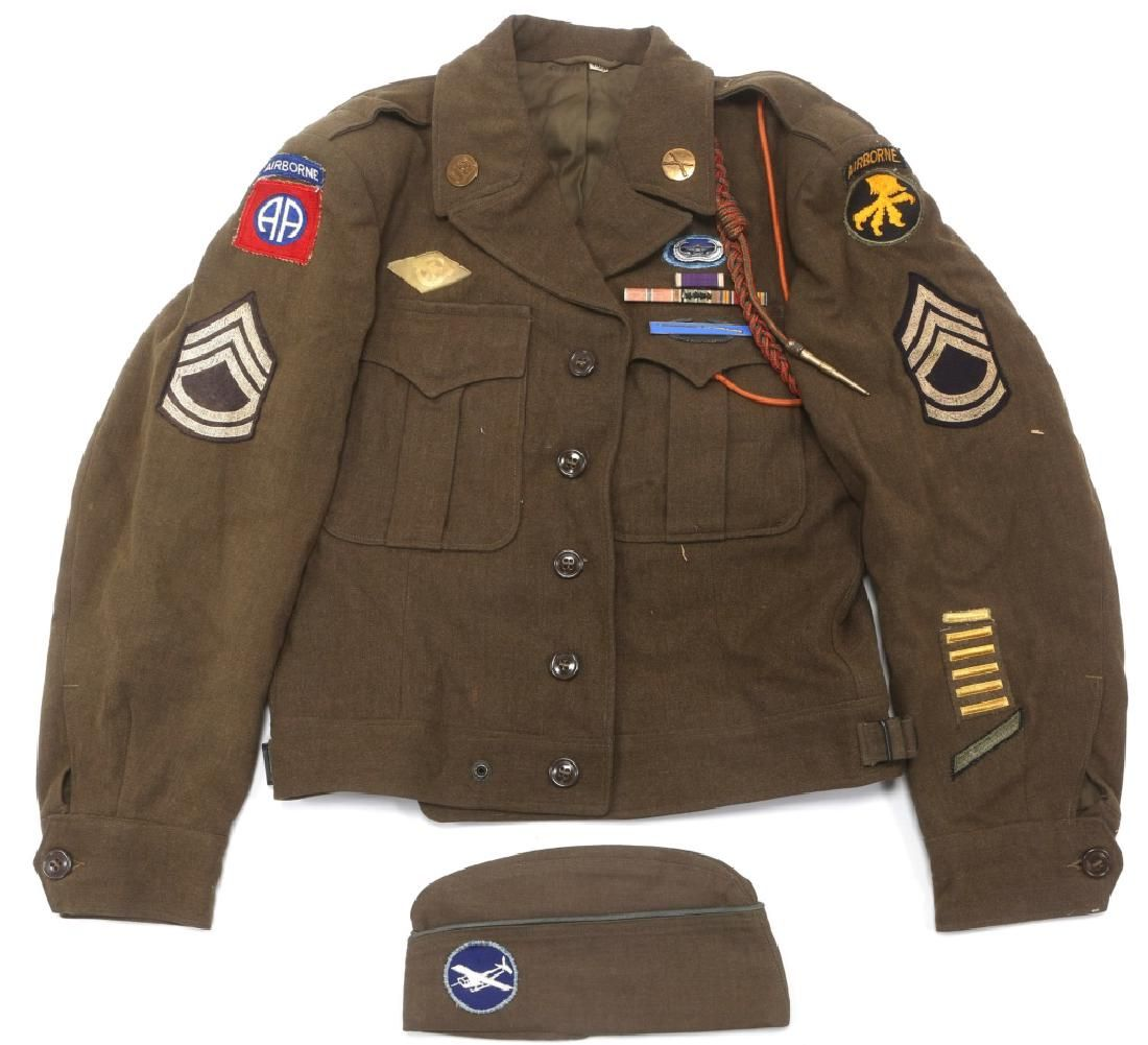 WWII 325th GLIDER INF 82nd AIRBORNE NAMED UNIFORM