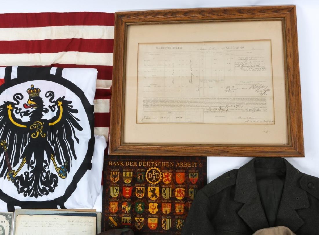 MIXED UNIFORM, FLAG & MILITARY ITEM LOT - 3