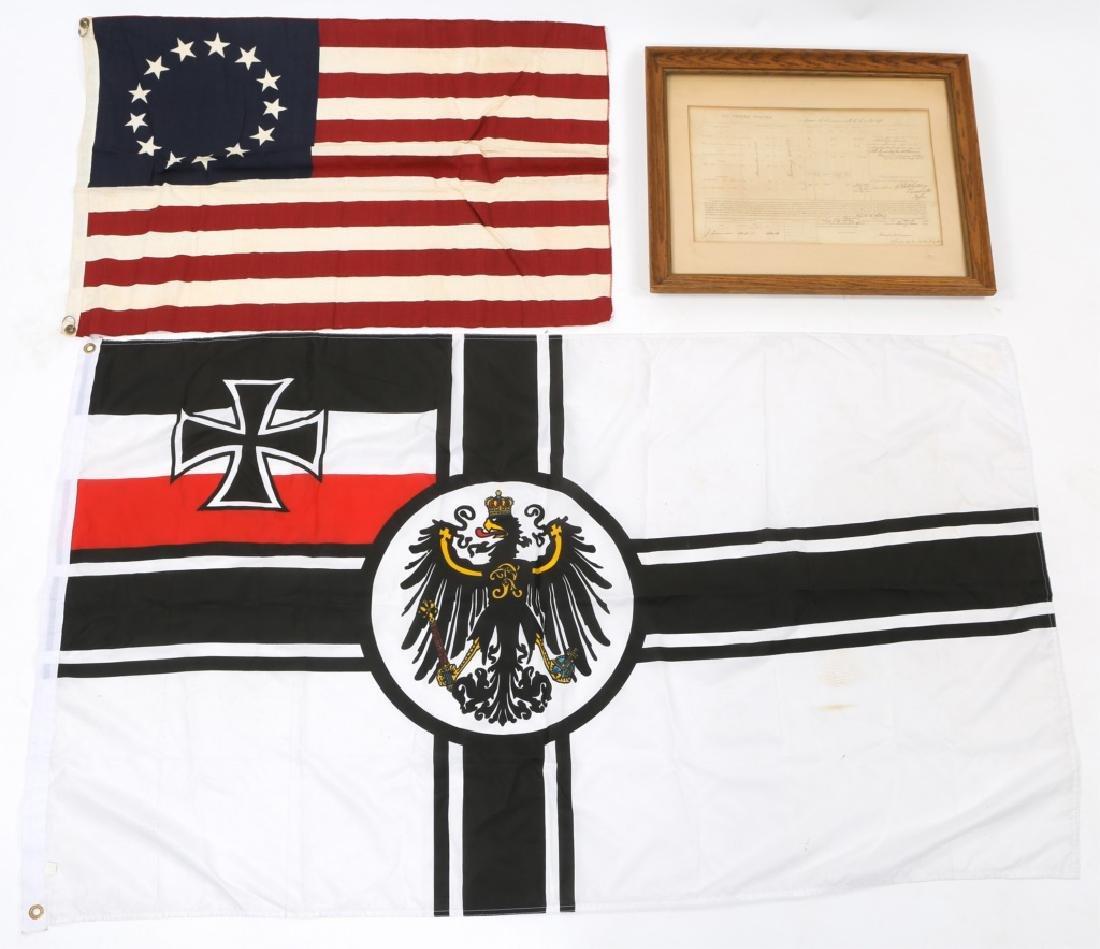 MIXED UNIFORM, FLAG & MILITARY ITEM LOT - 6
