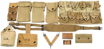 WWI US ARMY FIELD GEAR MIXED LOT