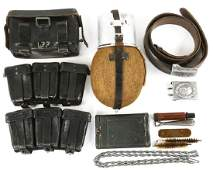 WWII GERMAN ARMY FIELD GEAR LOT OF 7