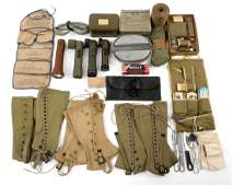 WWII LARGE LOT OF US FIELD GEAR  PERSONAL ITEMS