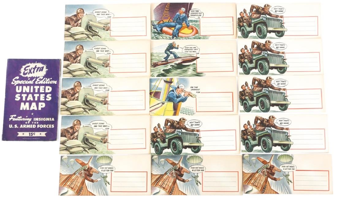 WWII US WAR TIME ENVELOPE LOT OF 12 DATED 1942