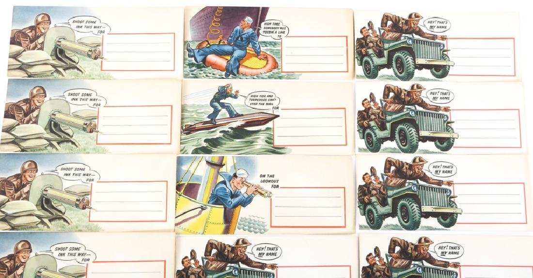 WWII US WAR TIME ENVELOPE LOT OF 12 DATED 1942 - 2