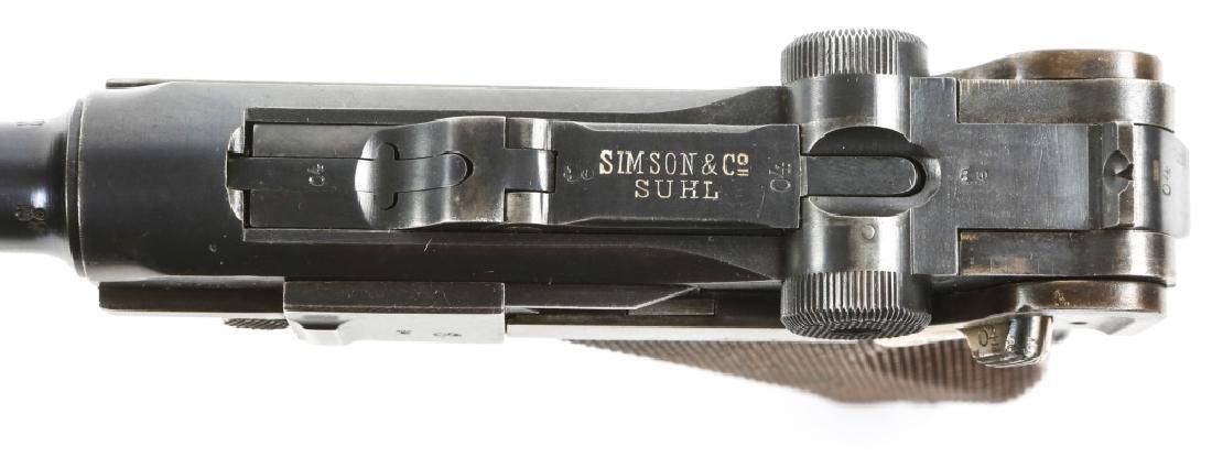 WEIMAR GERMAN SIMSON & CO LUGER PISTOL - 6