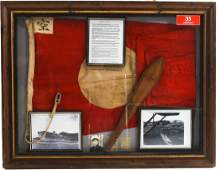 """WWII CAPTURED FLAG FROM JAPANESE CARRIER """"JUNYO"""""""