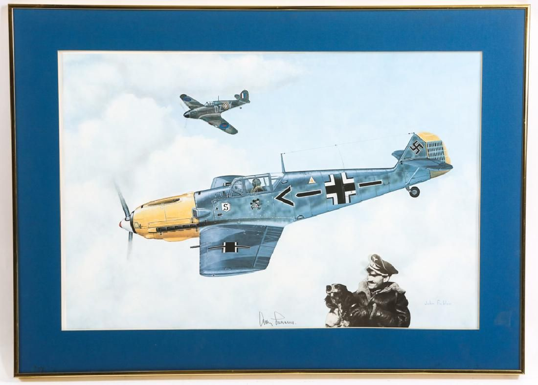 GENERAL ADOLF GALLAND SIGNED PRINT BY FICKLEN