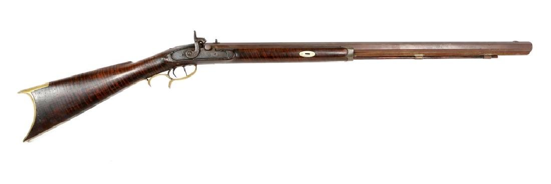 H. ELWELL WARRANTED .40 CALIBER PERCUSSION RIFLE