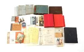 WWI - WWII WORLD BOOK, MANUAL, MAP & POSTCARD LOT