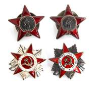 WWII RUSSIAN ORDER BADGE MIXED LOT OF 4