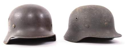 WWII GERMAN M40 HELMET SHELL LOT OF 2
