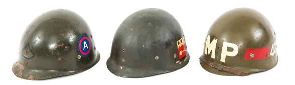 WWII US ARMY M1 HELMET LINER LOT OF 4