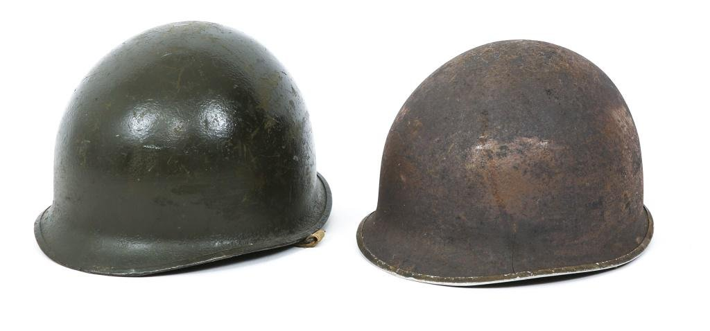 WWII US ARMY M1 COMBAT HELMET LOT OF 2