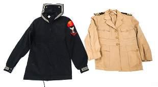WWII US NAVY OFFICER  ENLISTED DRESS UNIFORM LOT