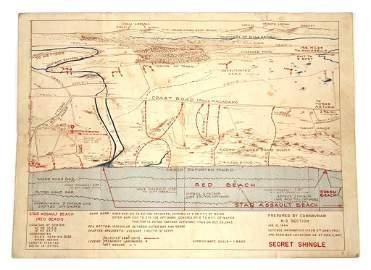 WWII BATTLE OF ANZIO BEACHMASTERS LANDING MAP