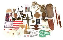 WWII  VIETNAM WAR WORLD MILITARY FIELD ITEM LOT