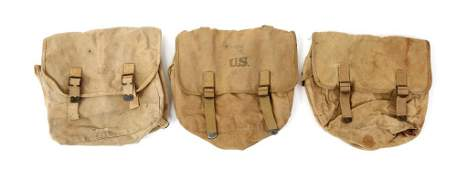 WWII US ARMY FIELD GEAR M36 MUSETTE BAG LOT OF 3