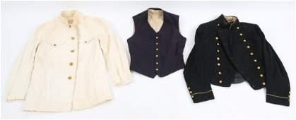 SPAN-AM WAR - WWI US NAVY DRESS UNIFORM LOT OF 3