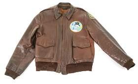 WWII 15th AAF 95th FIGHTER SQ A2 FLIGHT JACKET