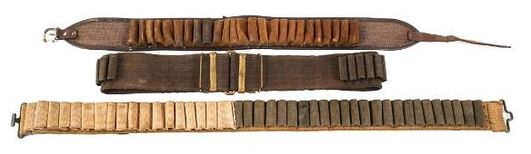 SPANAM WAR  WWI CARTRIDGE BELT LOT OF 3