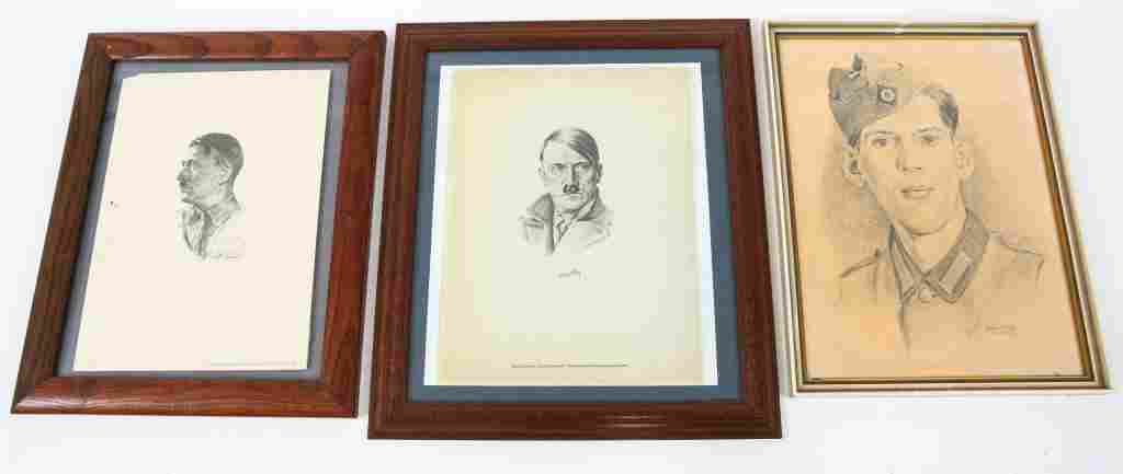 WWII GERMAN PICTURE FRAME LOT OF 3