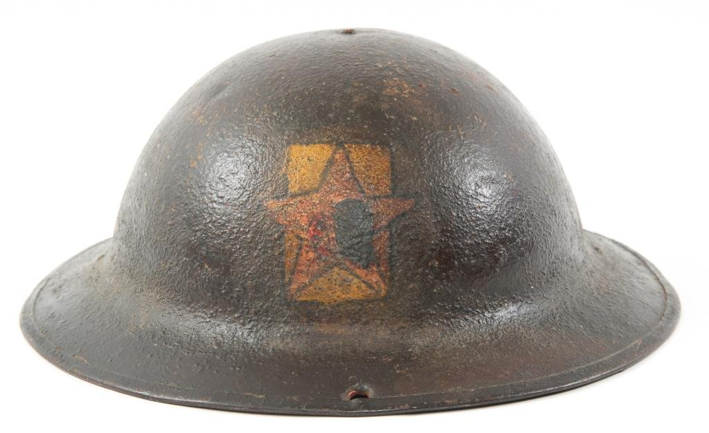 WWI ARMY AEF 15th FIELD ARTILLERY PAINTED HELMET