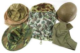 VIETNAM WAR US M1 HELMET  HEADGEAR LOT OF 5