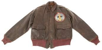 WWII 9th AAF 514th FIGHTER SQ A2 FLIGHT JACKET