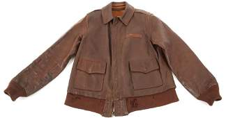 WWII ARMY AIR FORCE NAMED PILOT A2 FLIGHT JACKET