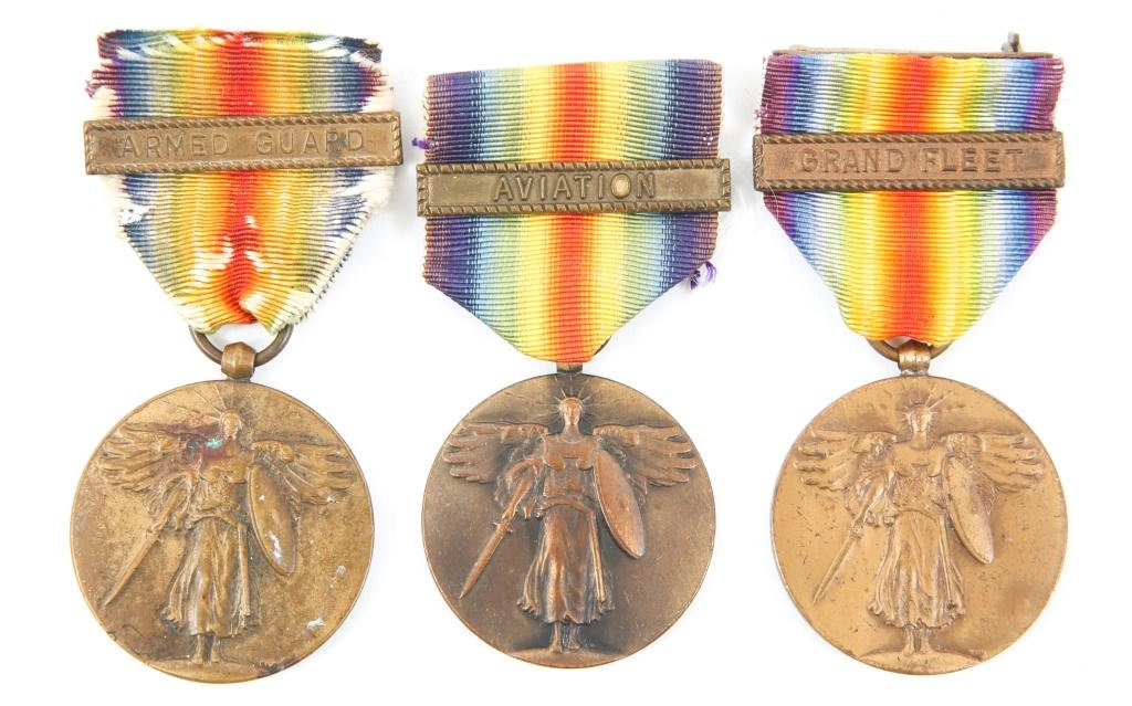 WWI US NAVY VICTORY MEDAL LOT OF 3
