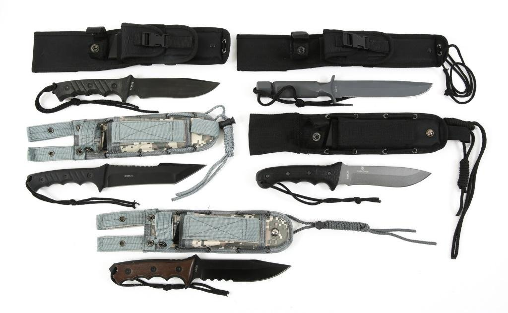 SCHRADE EXTREME SURVIVAL KNIVES SHEATHED LOT OF 5