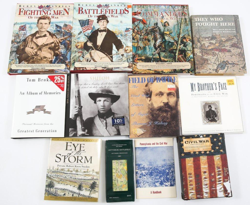 CIVIL WAR BOOK AND MEMORABILIA LOT OF 12